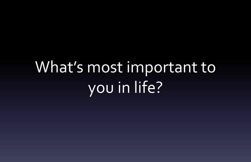 ဘာအရေးကြီးဆုံးလဲ